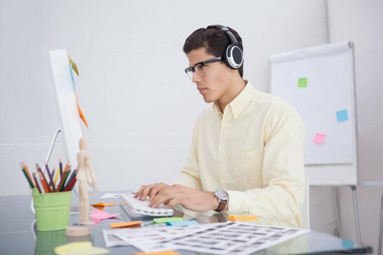 Musikk og web design